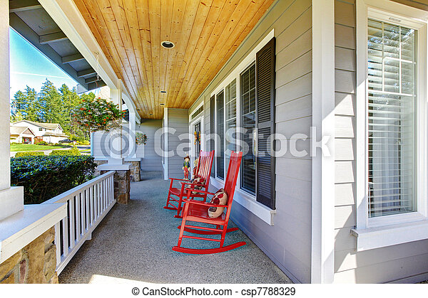 Front Porch Clipart stock photographs of front porch with rocking chairs and cover