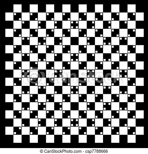 illusion of volume in black and white squares - csp7788666