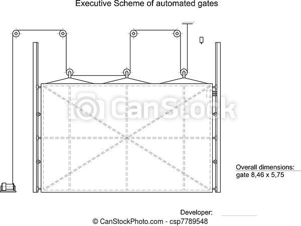 Executive scheme of automated gates - csp7789548