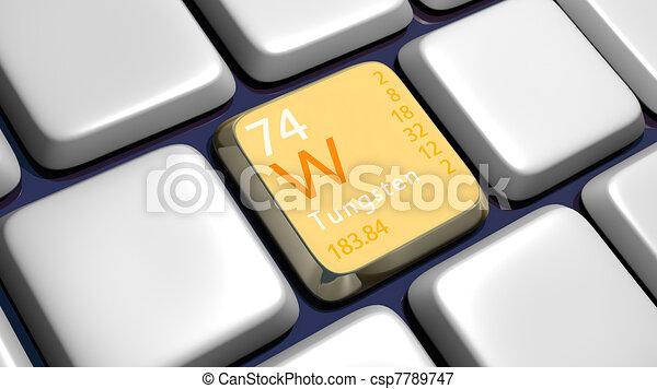 Keyboard (detail) with Tungsten element - csp7789747
