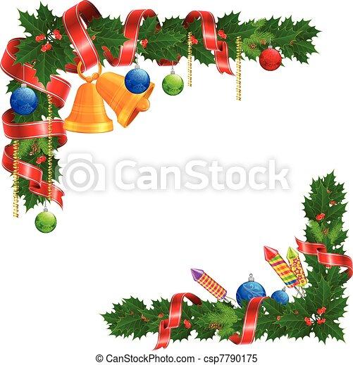 clipart vektor von winkel weihnachtsgirlande christmas. Black Bedroom Furniture Sets. Home Design Ideas