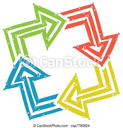 Four arrows - csp7790824
