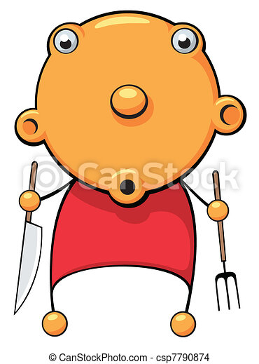 Hungry baby surprized - csp7790874