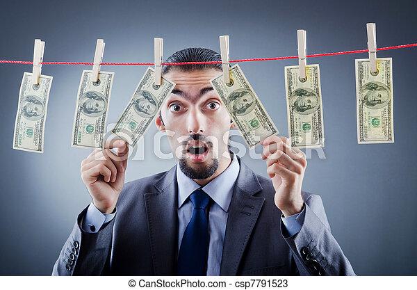 Criminal laundering dirty money - csp7791523
