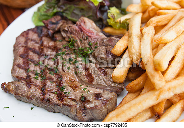 juicy steak beef  - csp7792435