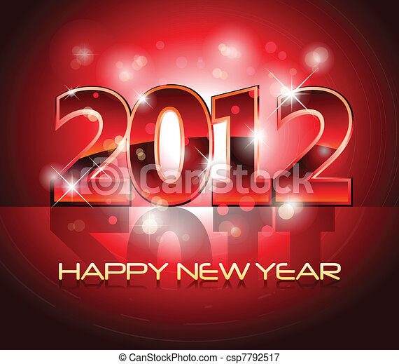 New Year Eve 2012 Background - csp7792517