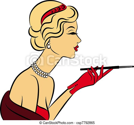 fashion girl with cannon-bit.  - csp7792865