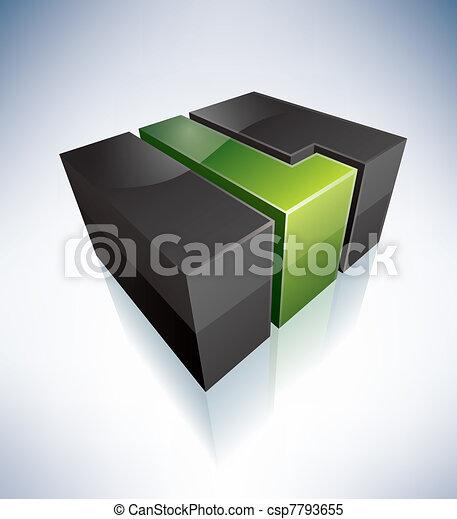 Three-dimensional L Letter - csp7793655