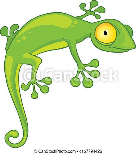 Cartoon Character Lizard - csp7794426