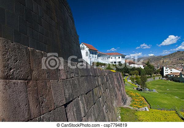 Cusco church of Santo Domingo - csp7794819