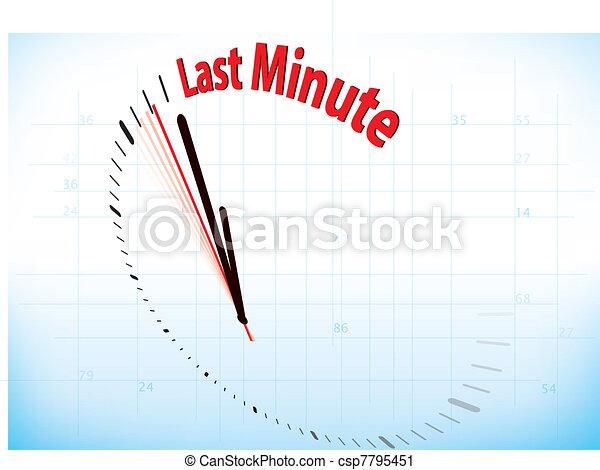 The last minute - csp7795451