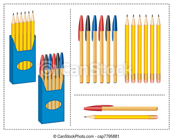 Pen and Pencils Boxes - csp7795881