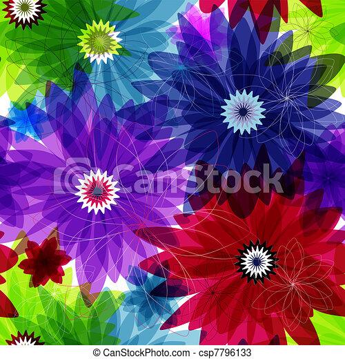 Seamless floral vivid pattern - csp7796133
