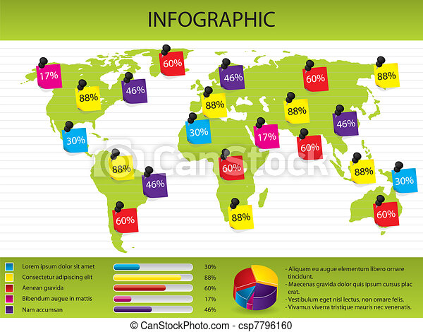 Map and chart infographic - csp7796160