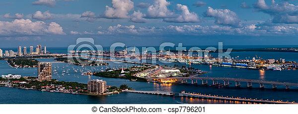 Aerial view of Miami - csp7796201