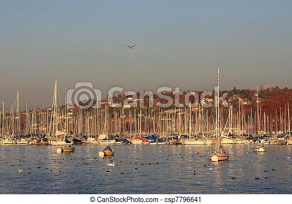 boats and lake - csp7796641