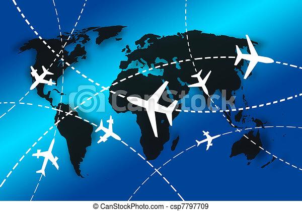 mundo, viaje, concepto - csp7797709