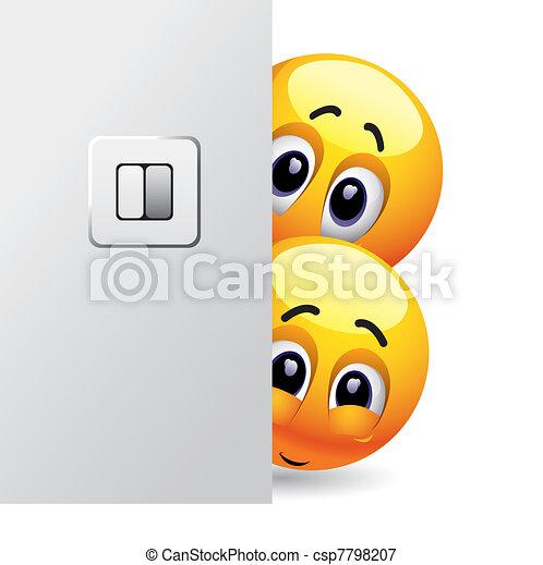 Vektoren Illustration von smileys - Lächeln, Kugeln ...