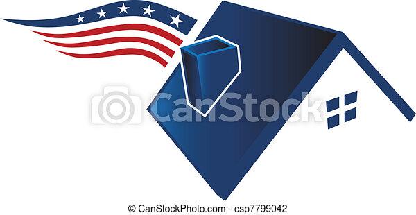 American house icon - csp7799042