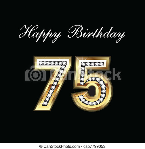Happy birthday 75 - csp7799053