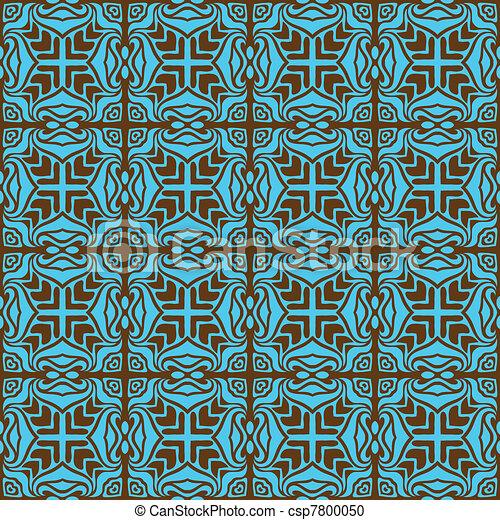 Turquoise elegant seamless pattern  - csp7800050