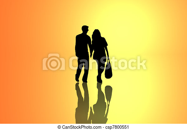 Relationship journey concept. - csp7800551
