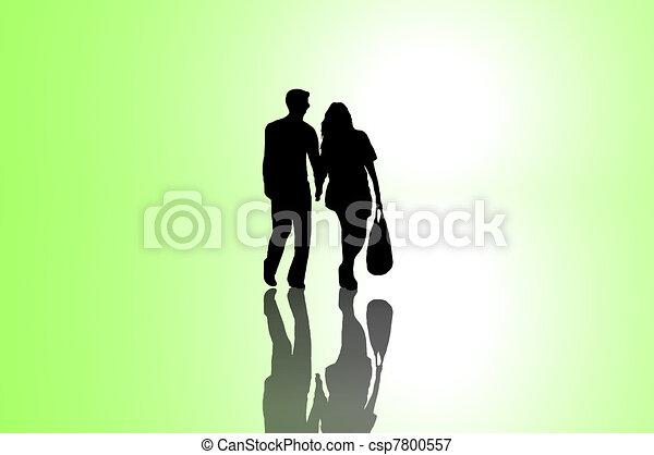 Relationship journey concept. - csp7800557