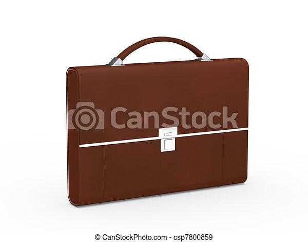 business bag briefcase brown - csp7800859