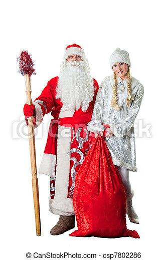 stock bild von russische weihnachten charaktere vater. Black Bedroom Furniture Sets. Home Design Ideas