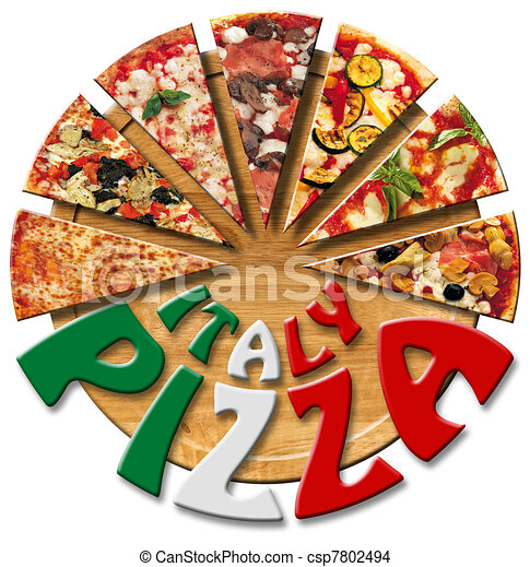 Italy Pizza on the cutting board - csp7802494