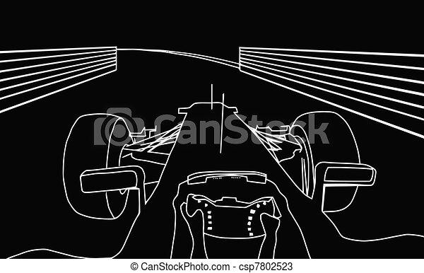 Silhouette F1 Cockpit View  - csp7802523