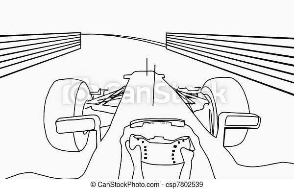 Silhouette F1 Cockpit View  - csp7802539