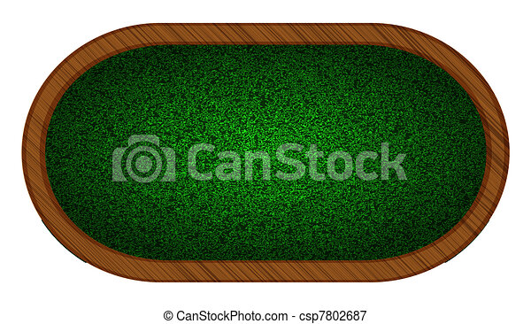 playing field in poker. vector illustration. Best choice - csp7802687