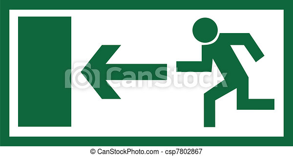Emergency exit sign - csp7802867