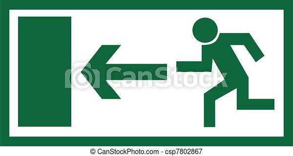 Emergency exit sign - csp7802867
