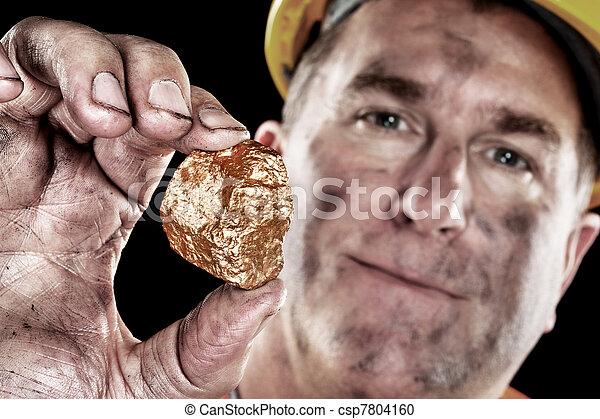 oro, minero, pepita - csp7804160