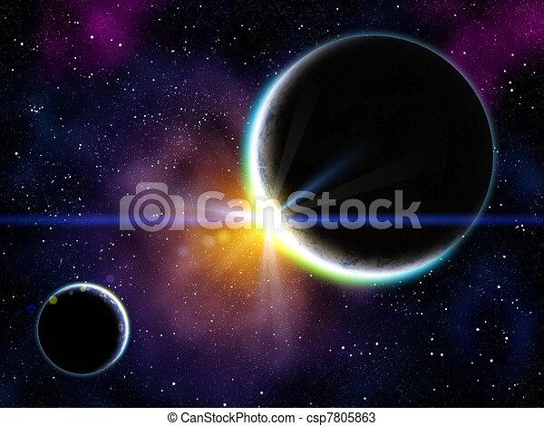 Nebula and planets - csp7805863
