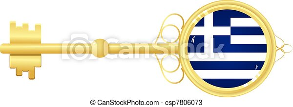 Golden key from Greece - csp7806073