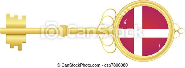 Golden key from Denmark - csp7806080