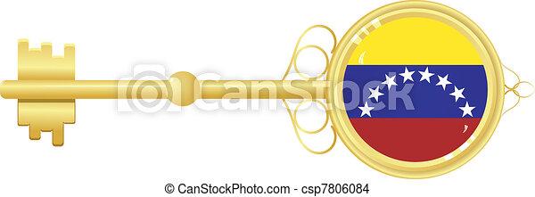golden key from Venezuela - csp7806084