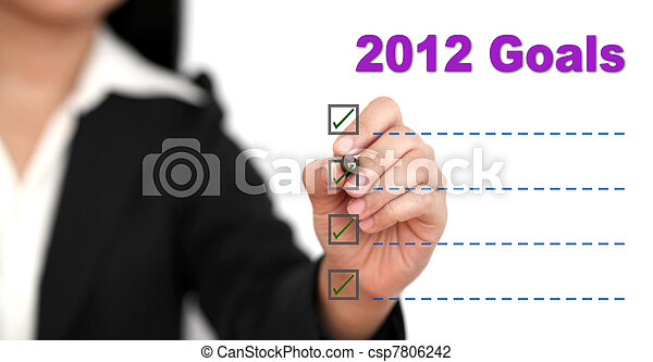 2012 Goal List - csp7806242