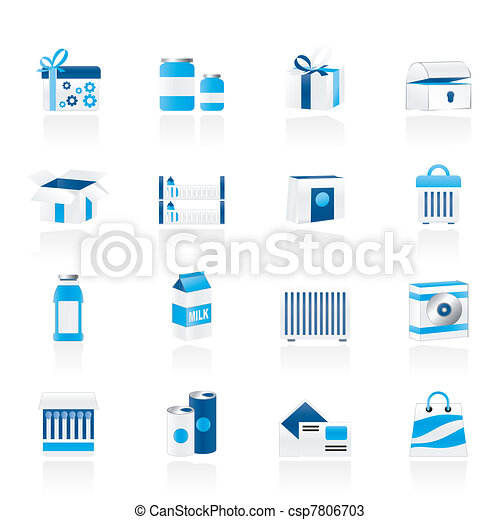 different kind of package icons - csp7806703