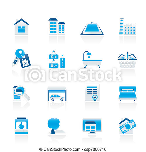 Real Estate objects and Icons - csp7806716