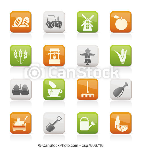 Agriculture and farming icons  - csp7806718
