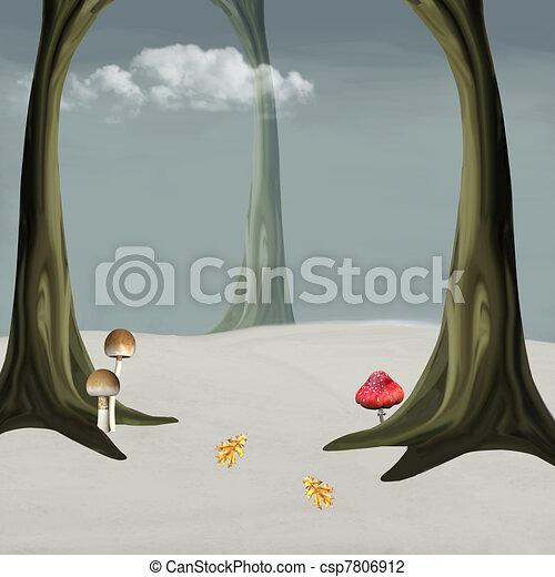 Winter forest - csp7806912