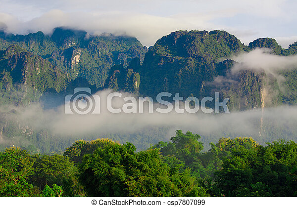 Mountain in Laos - csp7807099