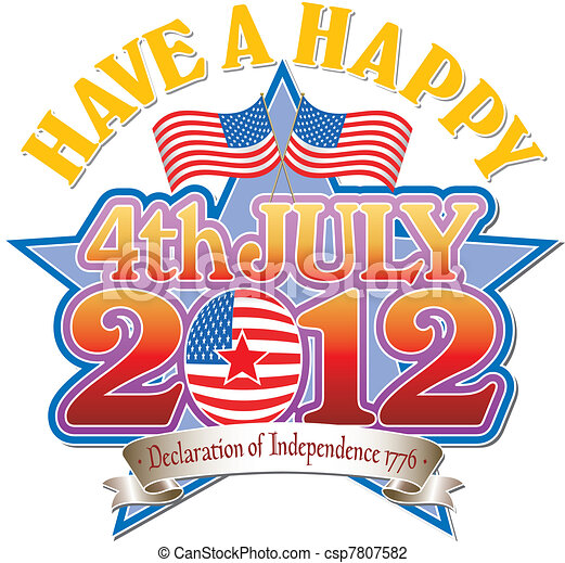 4 July 2012 vector Graphic - csp7807582