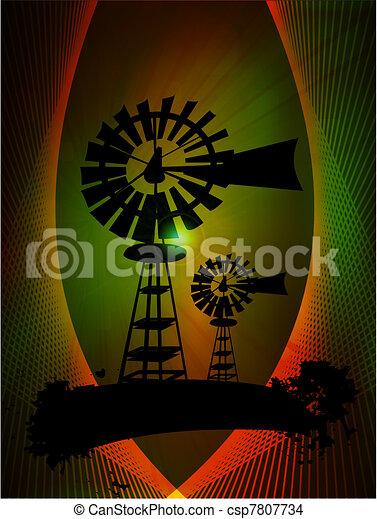 Windmill turbines - csp7807734