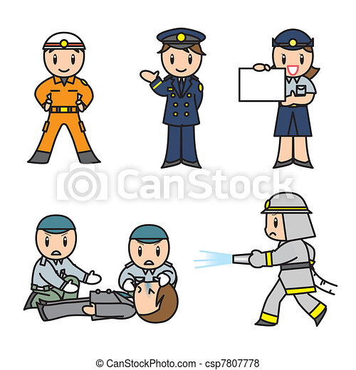 Fireman / Emergency set - csp7807778