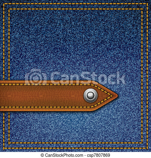 Realistic vector denim background. - csp7807869